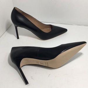Via Spiga Black Leather Women's High Heels Pumps